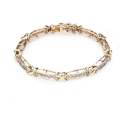 "Gold bracelet with diamonds ""Intertwined destinies 23"""