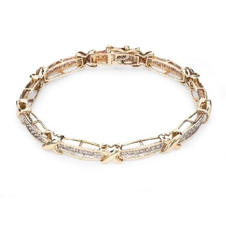 "Gold bracelet with diamonds ""Intertwined destinies 23"""