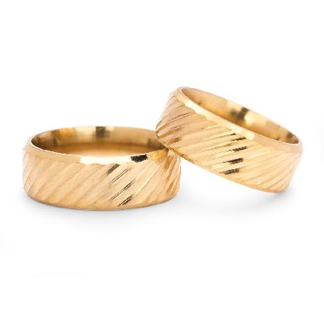 """Kullast abielusõrmused """"VKA 312"""""""