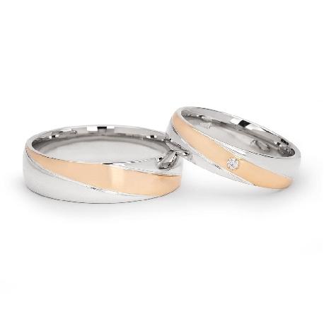 """Teemantidega abielusõrmused """"VKA 099"""""""