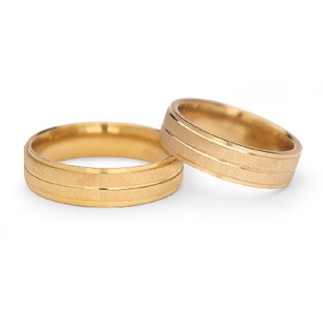 """Kullast abielusõrmused """"VKA 309"""""""
