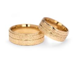 """Auksiniai vestuviniai žiedai """"VM124"""""""