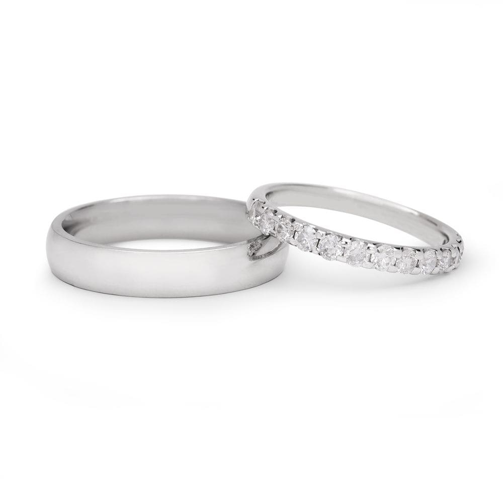 "Golden wedding rings with diamonds ""VKA 138"""