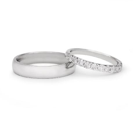 """Teemantidega abielusõrmused """"VKA 138"""""""