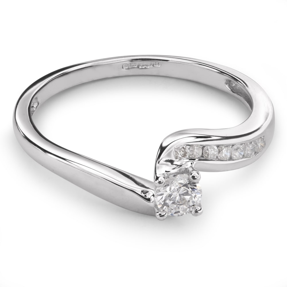 """Engagment ring with brilliants """"Hurricanes 12"""""""