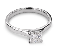 "Engagement ring with diamond ""Princess 27"""