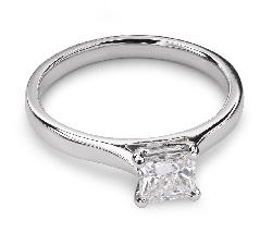 """Sužadėtuvių žiedas su Deimantu """"Princesė 27"""""""