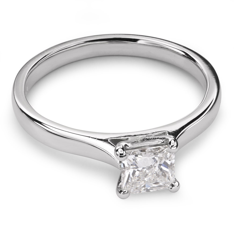 "Engagement ring with diamond ""Princess 27"""