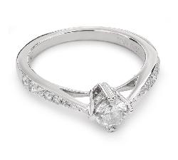 """Auksinis žiedas su Briliantais """"Grakštumas 72"""""""