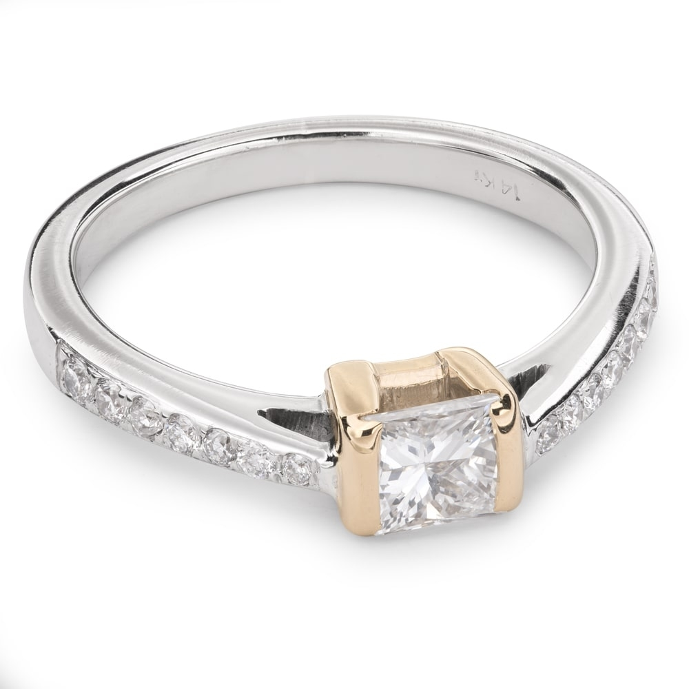 "Engagement ring with diamonds ""Princess 31"""