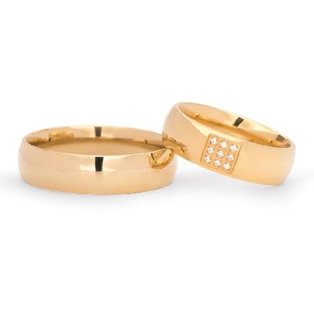 """Kullast abielusõrmused """"VKA 139"""""""