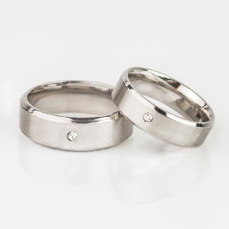 "Golden wedding rings with diamonds ""VMA 117"""