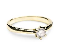 """Sužadėtuvių žiedas su Briliantu """"Širdies Karalienė 4"""""""