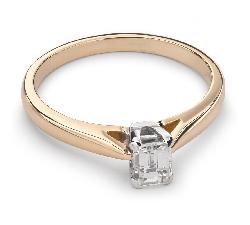 """Sužadėtuvių žiedas su Deimantu """"Tvirtybė 76"""""""
