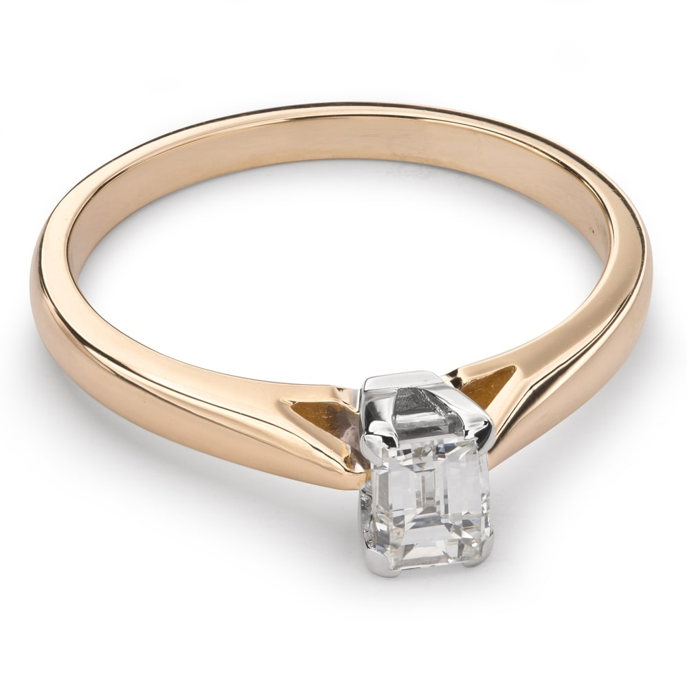 """Engagement ring with diamond """"Strength 76"""""""