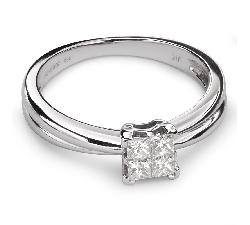 """Sužadėtuvių žiedas su Deimantais """"Princesės 40"""""""