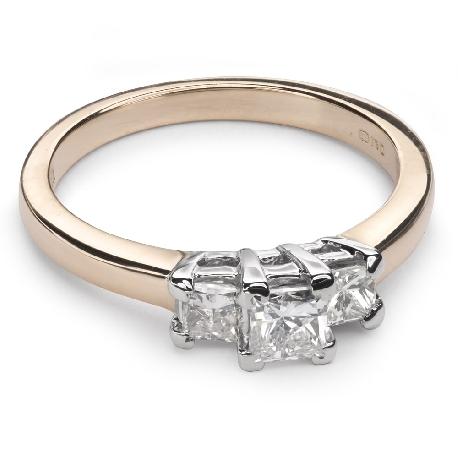 """Teemantidega kuldsõrmus """"Triloogia 15"""""""
