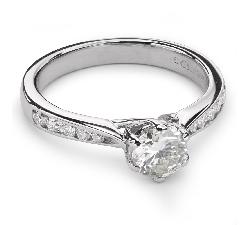 """Sužadėtuvių žiedas su Briliantais """"Grakštumas 77"""""""