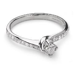 """Sužadėtuvių žiedas su Briliantais """"Gyvybė 25"""""""