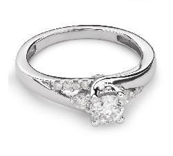 """Auksinis žiedas su Briliantais """"Grakštumas 78"""""""