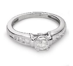 """Auksinis žiedas su Briliantais """"Grakštumas 79"""""""