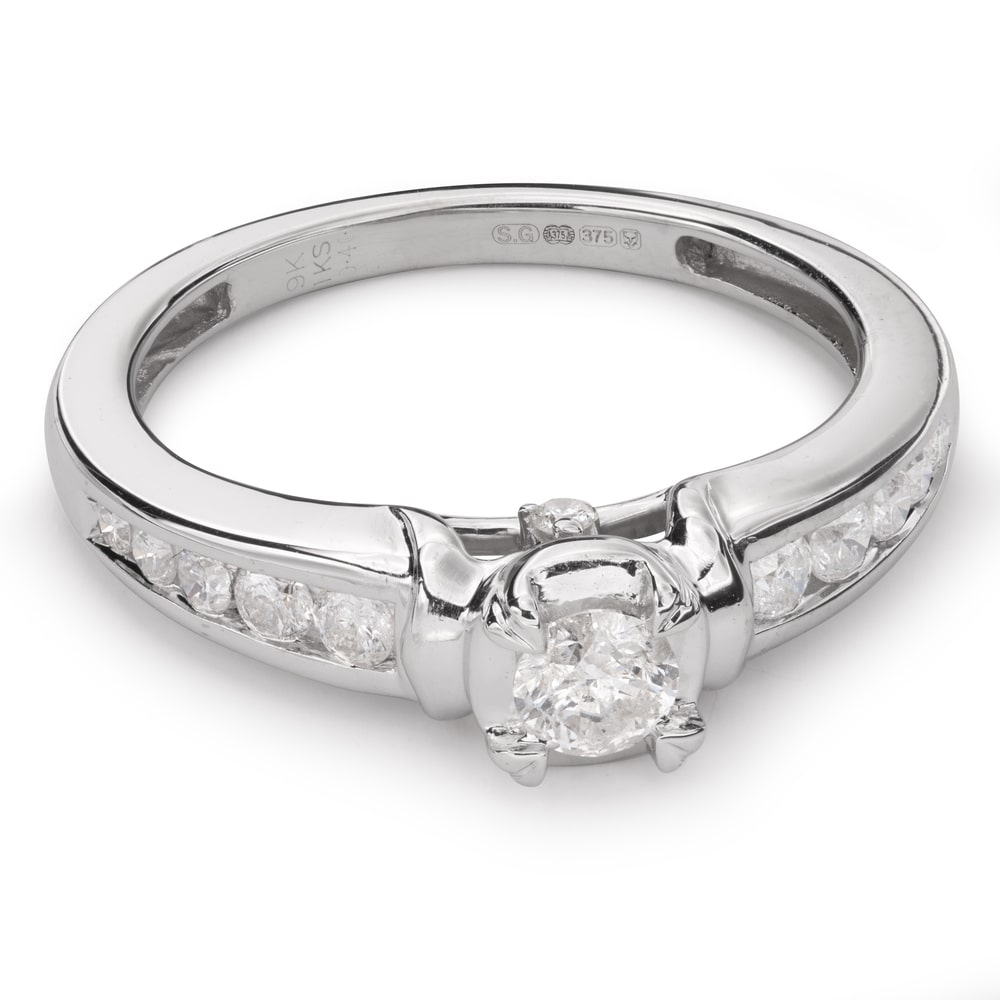 """Engagment ring with brilliants """"Grace 79"""""""