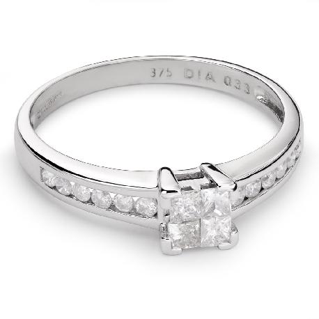 """Teemantidega kihlasõrmus """"Printsessid 41"""""""
