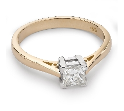"Engagement ring with diamond ""Princess 42"""