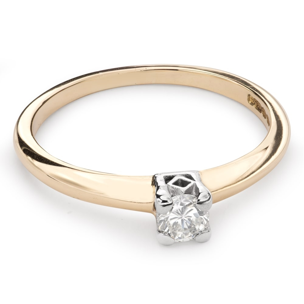 """Engagement ring with brilliant """"Strength 80"""""""