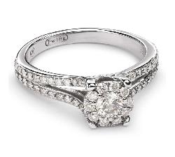 """Sužadėtuvių žiedas su Deimantais """"Briliantų Puokštė 31"""""""