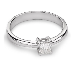 "Engagement ring with diamond ""Princess 45"""