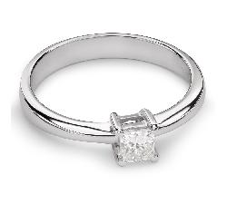 """Auksinis žiedas su Deimantu """"Princesė 45"""""""