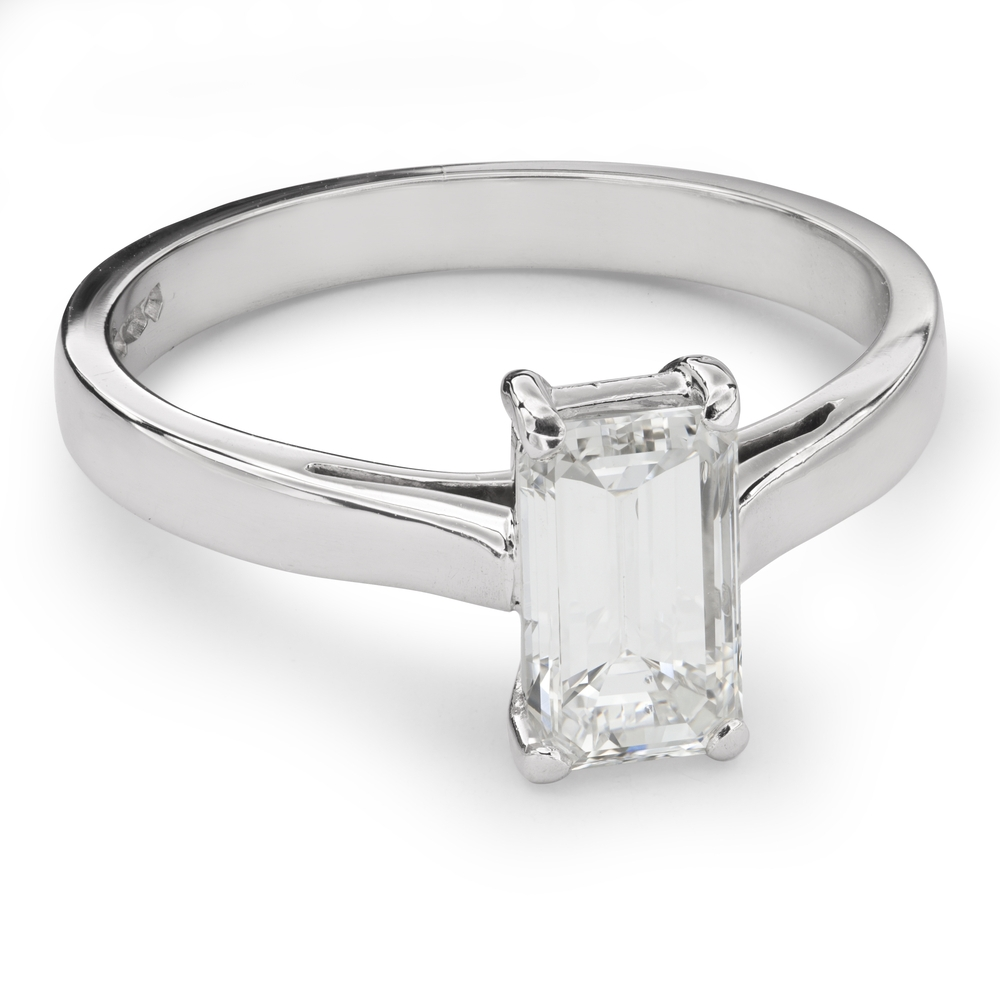 """Engagement ring with diamond """"Unforgettable 13"""""""