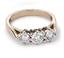 "Engagment ring with brilliants ""Trilogy 19"""