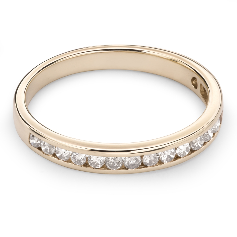 "Gold ring with brilliants ""Diamond strip 34"""
