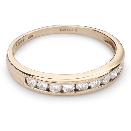 """Briljantidega kuldsõrmus """"Teemantidega lint 38"""""""