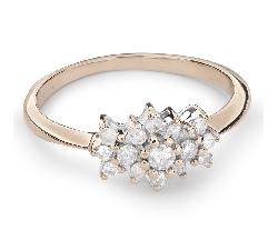 """Sužadėtuvių žiedas su Briliantais """"Briliantinė Gėlė 28"""""""