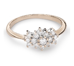 "Engagment ring with brilliants ""Diamond flower 28"""
