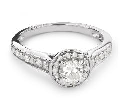 """Sužadėtuvių žiedas su Briliantais """"Briliantų Puokštė 34"""""""