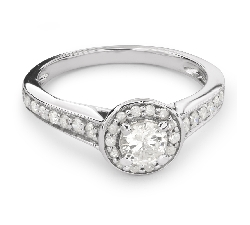 "Engagment ring with brilliants ""Bouquet of diamonds 34"""