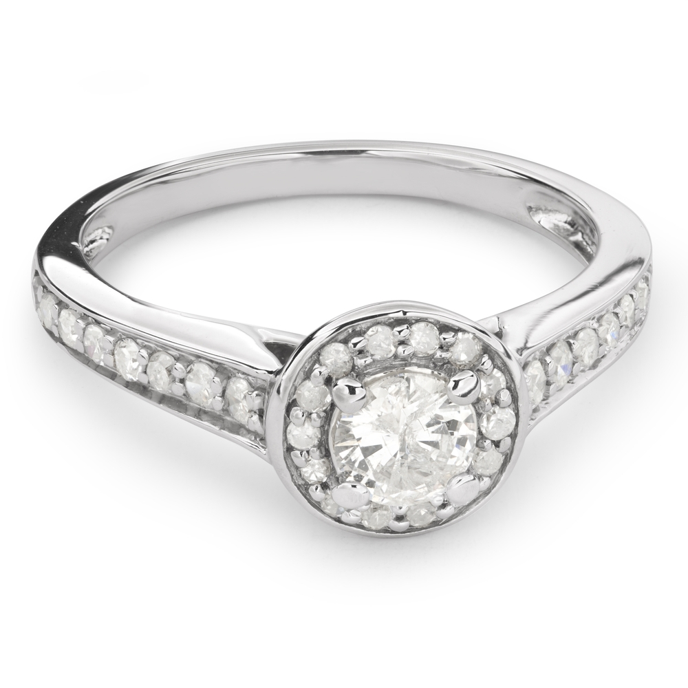 """Engagment ring with brilliants """"Bouquet of diamonds 34"""""""