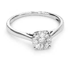 "Engagment ring with brilliants ""Diamond flower 29"""