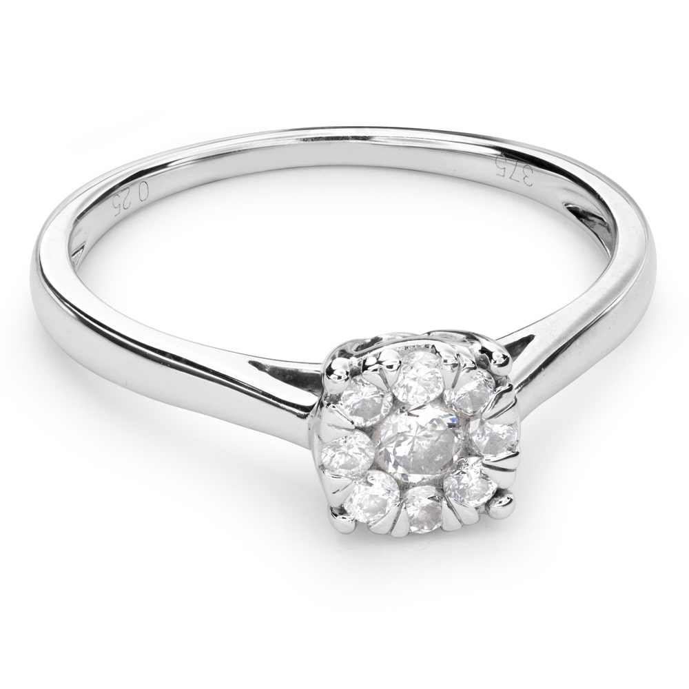 """Engagment ring with brilliants """"Diamond flower 29"""""""