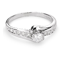 "Engagement ring with diamonds ""Hurricanes 18"""