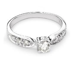 """Sužadėtuvių žiedas su Briliantais """"Grakštumas 89"""""""