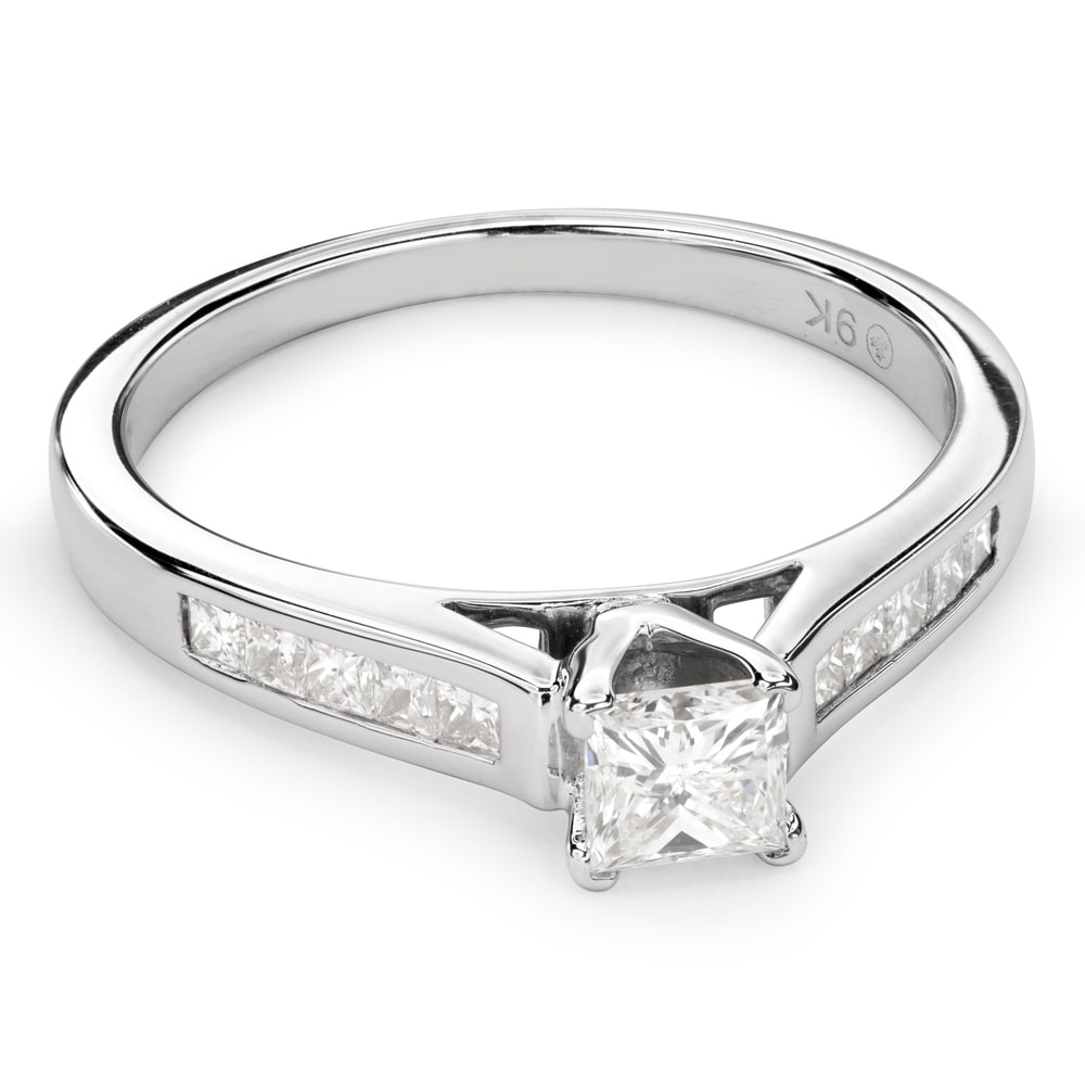 """Engagement ring with diamonds """"Princess 50"""""""