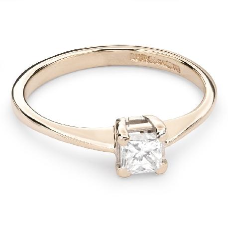 "Engagement ring with diamond ""Princess 54"""