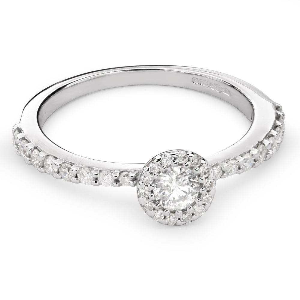 """Engagment ring with brilliants """"Bouquet of diamonds 35"""""""