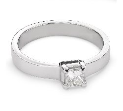 "Engagement ring with diamond ""Princess 52"""