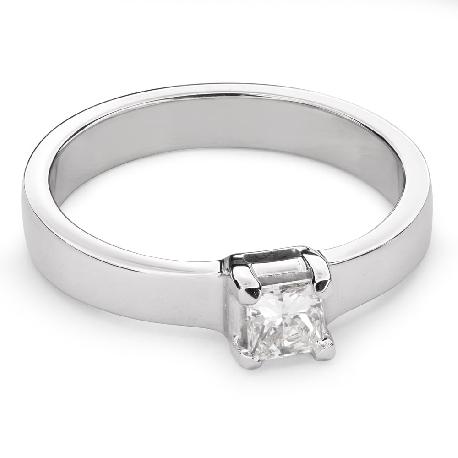 "Engagement ring with diamond ""Princess 52"""